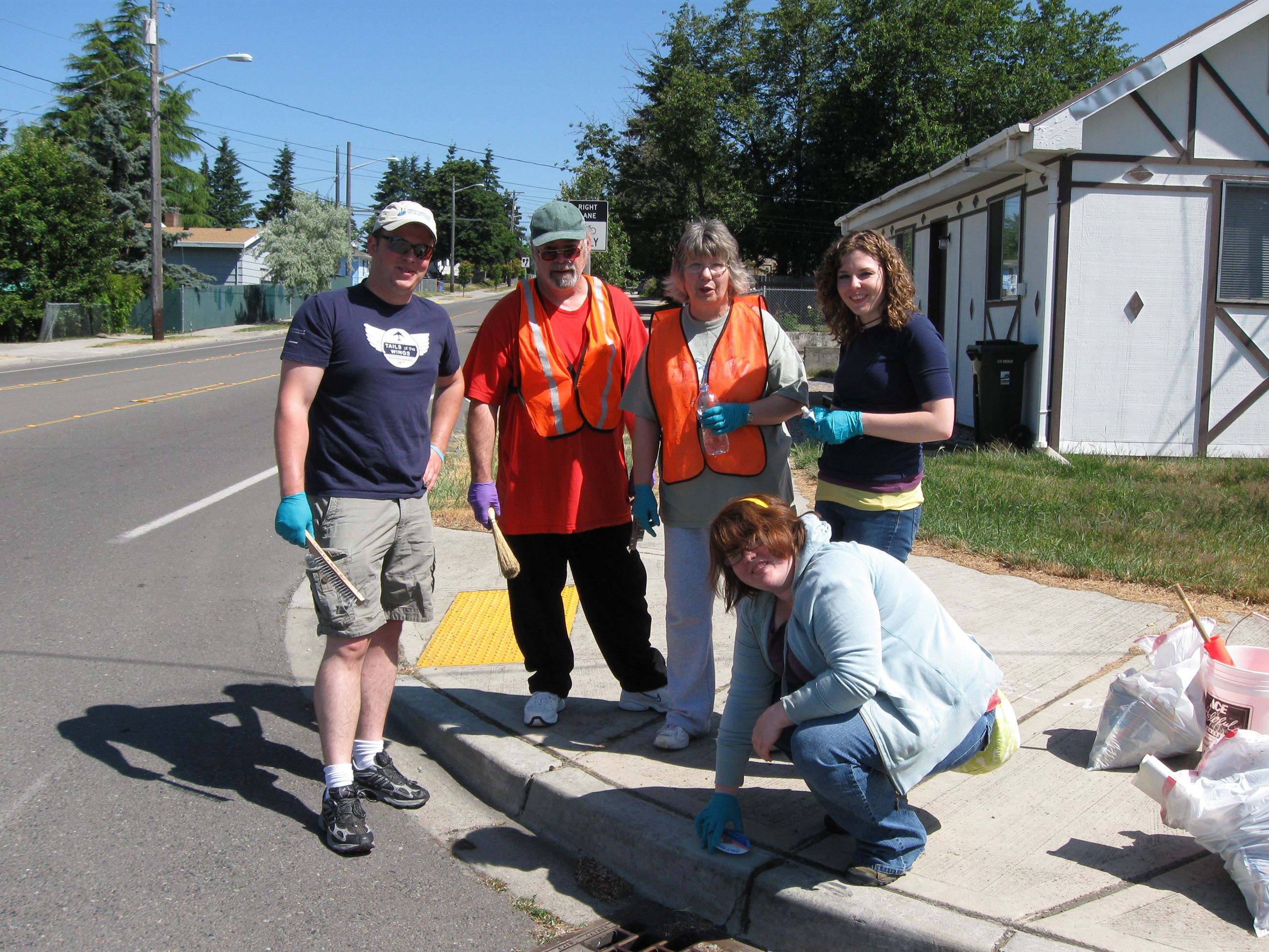 Wapato Curb Marking